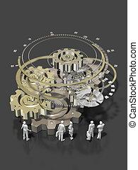 3D illustration of industrial gear