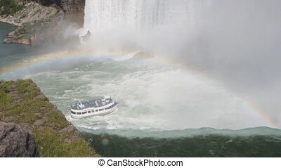 Niagara Falls rainbow and tour boat - The brink of Niagara...