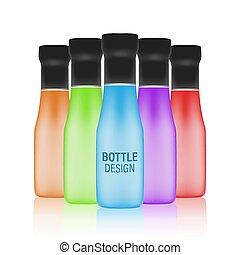 Bottle vector design. Mock-up packages. - Bottle design in...