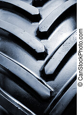 Tractor tire detail