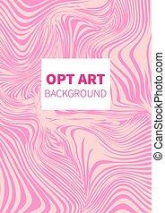 Hipster opt art - Opt art. Hipster vector card, banner,...