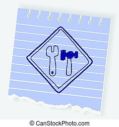 tool fix sign doodle