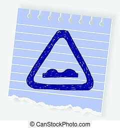 Uneven road doodle
