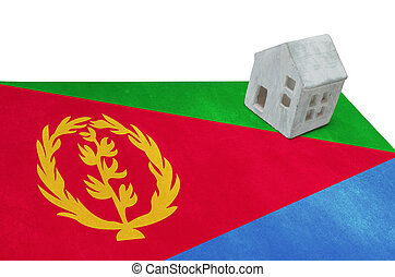 Small house on a flag - Eritrea - Small house on a flag -...