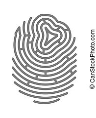 Gray colored fingermark - Vector illustration of gray...