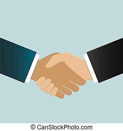Multiracial business people shaking hands