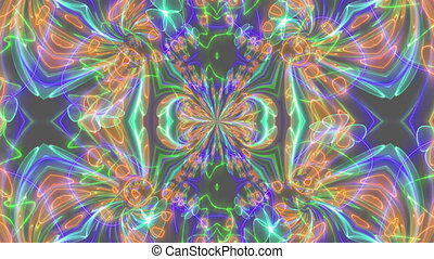 Abstract Color kaleidoscope texture animation - Abstract...