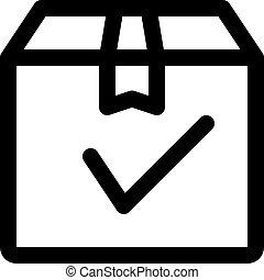 delivery box check