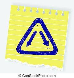 garfo,  doodle, sinal