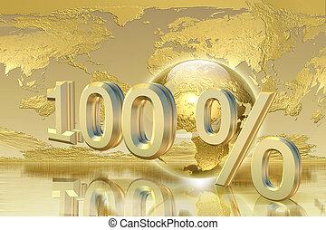 Golden percentage - Business, success concept