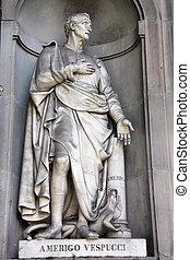 Amerigo Vespucci - Statue of famous explorer Amerigo...