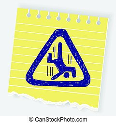 people fall sign doodle