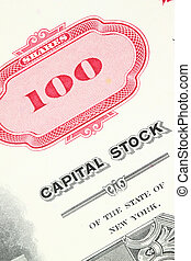 Stock certificate - 100 shares. Old stock share certificate....