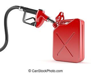 Gasoline nozzle with canister