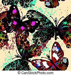 Butterfly vector design pattern with colorful wings.eps -...