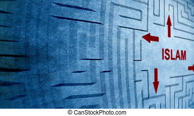 Islam maze concept