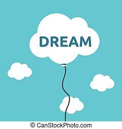 Cloud balloon, dream concept - White cloud shaped balloon...