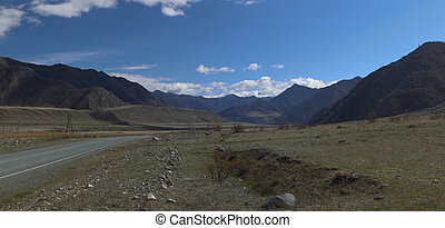 Altai mountains. Beautiful highland landscape. Russia....