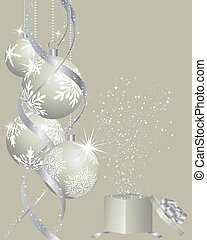 christmas background - Beautiful vector Christmas New Year...