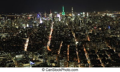 Night timelapse of lower Manhattan - A Night timelapse of...