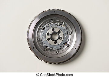 Dual-Mass Flywheel front view lying on white background