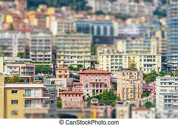 Cityscape of La Condamine, Monaco-Ville, Monaco....