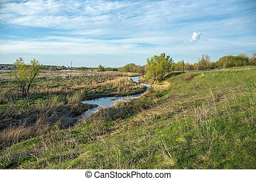 Rivulet in the countryside - Rivulet in a ravine in the...