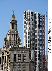 Downtown Manhattan - Municipal Building and Beekman Tower in...