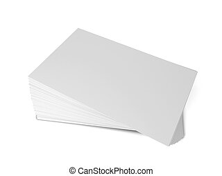 Business cards. 3d illustration isolated on white background