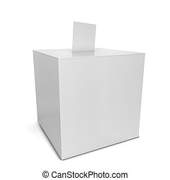 Ballot box. 3d illustration isolated on white background
