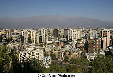 Skyline of Santiago