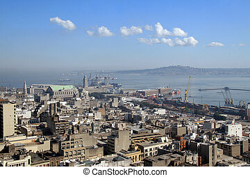 Montevideo, capital of Uruguay - View on the city and...