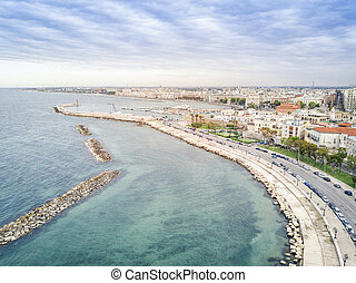 Old town by the sea, Bari, Puglia, Italy