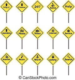 Set of traffic signs vector format.
