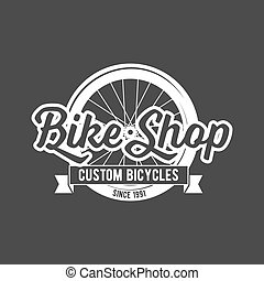 bicycle retro badge - vintage and modern bicycle shop logo...