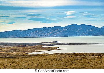 Las Aguilas Viewpoint.El Chalten - Argentina - Aerial view...