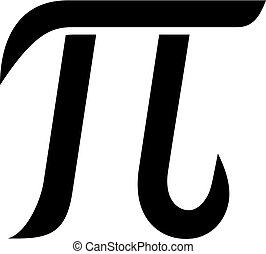 Greek letter pi vector illustration