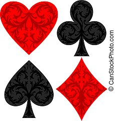 playing card symbols vector illustration