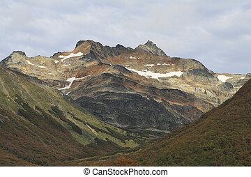 Mountain top near Ushuaia