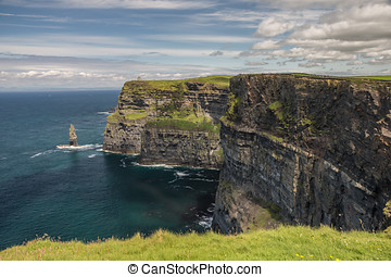 Cliffs of Mohar, County Claire, Republic of Ireland....