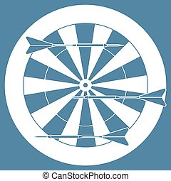 Cute vector illustration of target and arrows for the darts. Sports theme.
