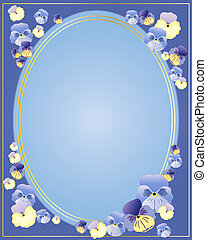 pansy border - an illustration of multi colored pansy...