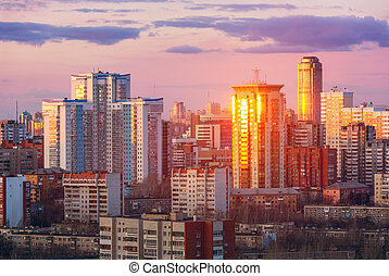 evening view of Yekaterinburg, Russia