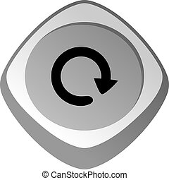 restart refresh glossy color app icon button game asset...