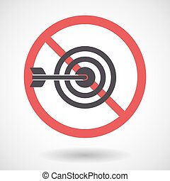 Isolated forbidden signal with a dart board - Illustration...