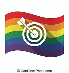 Isolated Gay Pride flag with a dart board - Illustration of...