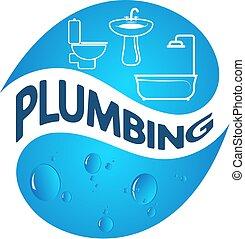 Plumbing vector - Plumbing symbol of business vector design