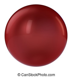 3d red sphere in studio environment isolated on white