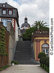 The castle park of Weilburg, Hesse, Germany