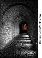 Menacing light at the end of the tunnel - Tunnel leading to...